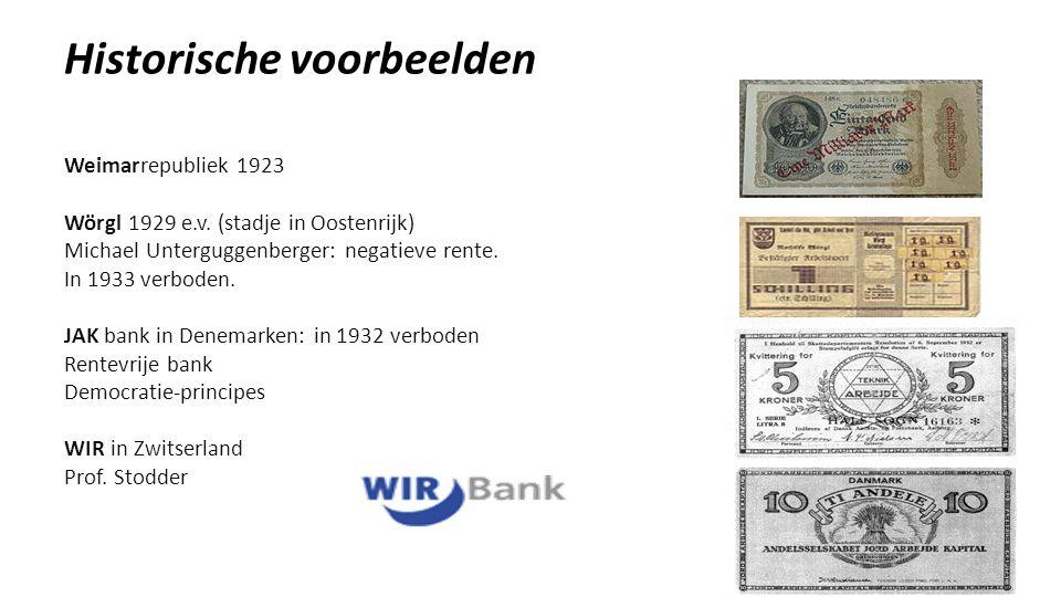 Historische voorbeelden Weimarrepubliek 1923 Wörgl 1929 e.v.