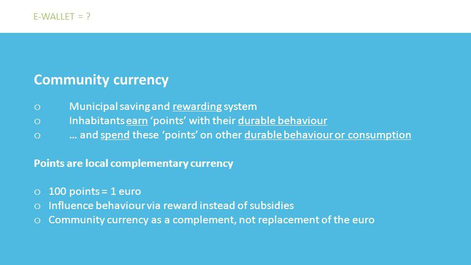 De plaats van de economie / Belang van paradigma's Voorstel om meerdere munten te gebruiken om die doelen te realiseren