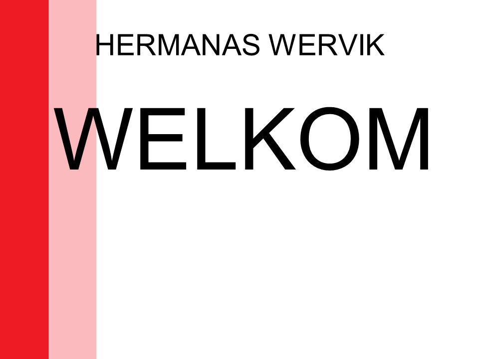 HERMANAS WERVIK –TrainerAndre Bille –PloegverantwoordelijkePol Breine –TerreinafgevaardigdeYvette Delbecque –Scheidsrechter reservenx –Aanvang trainingen06/08/2010 –Timing trainingen Iedere dinsdag 20u-21u30 (terrein B/C) Iedere donderdag 20u30-22u (ov) (terrein C) Iedere vrijdag 19u– 20u30 (ov)(terrein C) Eén training individuele begeleiding van bepaalde speelsters (bij afwezigheid : trainer verwittigen aub) –Thuiswedstrijd zaterdag Reserven om 18u Hoofdploeg om 19u30 –ZaalTerrein C