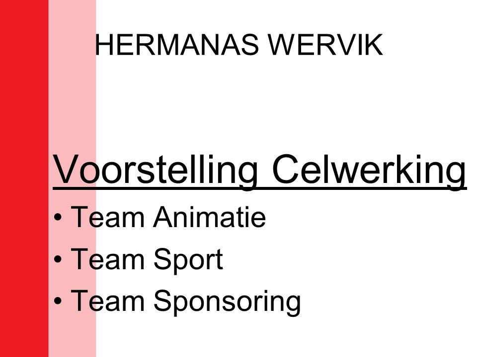 HERMANAS WERVIK Voorstelling Celwerking •Team Animatie •Team Sport •Team Sponsoring