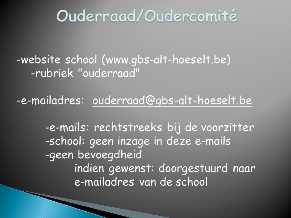 -website school (www.gbs-alt-hoeselt.be) -rubriek