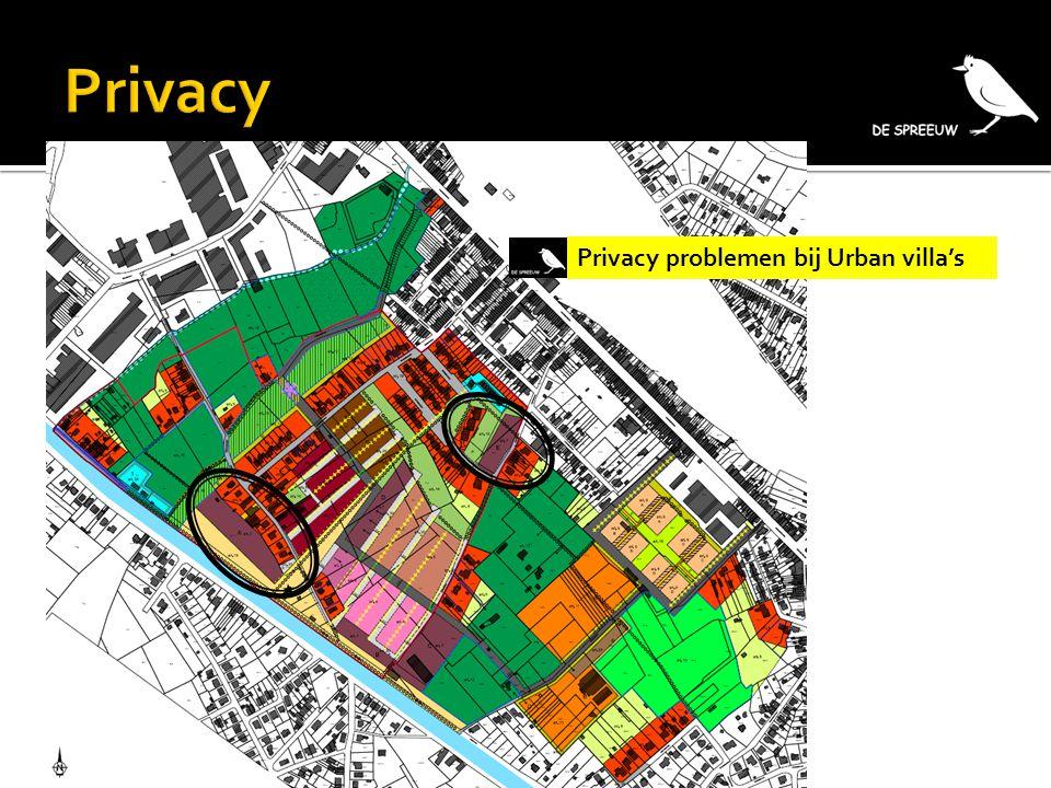 Privacy problemen bij Urban villa's
