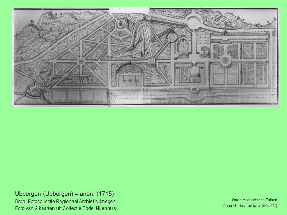 Oude Hollandsche Tuinen Anna G.Bienfait (afb. 323/324) Ubbergen (Ubbergen) – anon.