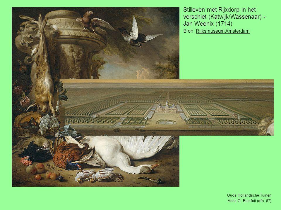 Stilleven met Rijxdorp in het verschiet (Katwijk/Wassenaar) - Jan Weenix (1714) Bron: Rijksmuseum AmsterdamRijksmuseum Amsterdam Oude Hollandsche Tuinen Anna G.