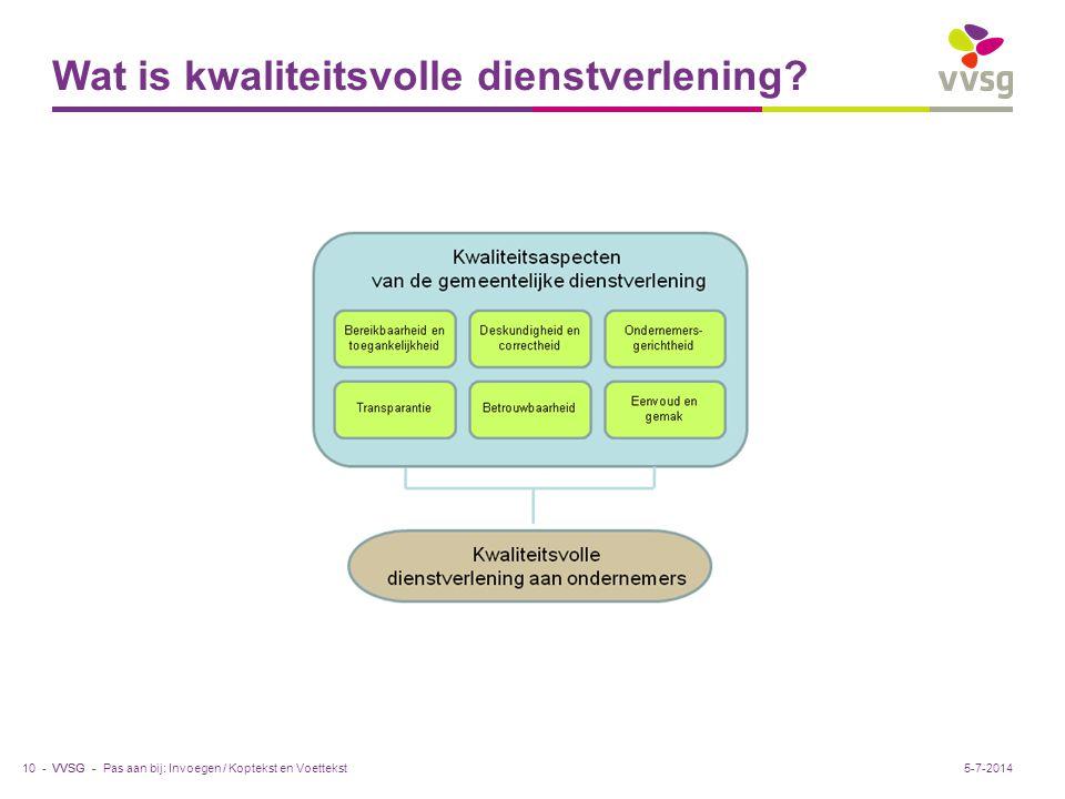 VVSG - Wat is kwaliteitsvolle dienstverlening.