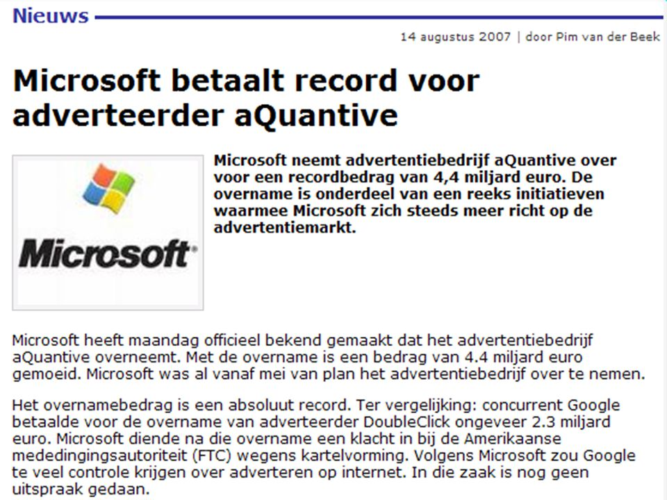 dinsdag 6 januari 2009 e-commerce en m-commerce & Enterprise systemen :: Stair & Reynolds :: H5 17 Uit: Computable & Emerce