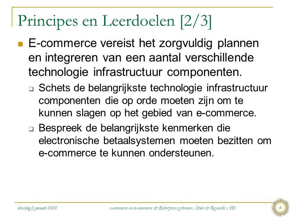 dinsdag 6 januari 2009 e-commerce en m-commerce & Enterprise systemen :: Stair & Reynolds :: H5 4 Principes en Leerdoelen [2/3]  E-commerce vereist h