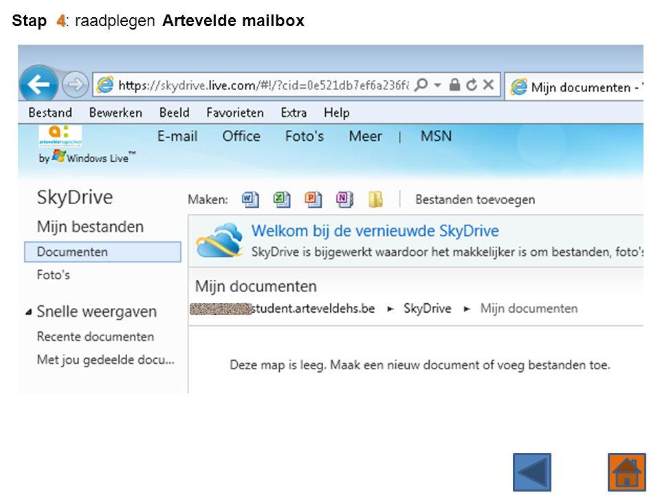 4 Stap 4: raadplegen Artevelde mailbox