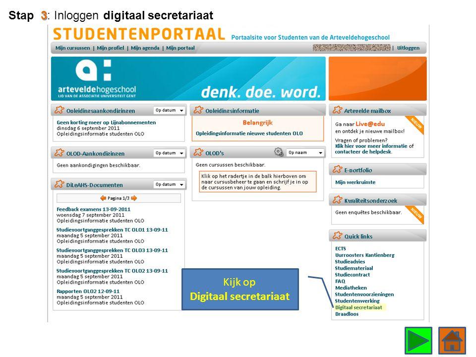 Kijk op Digitaal secretariaat 3 Stap 3: Inloggen digitaal secretariaat