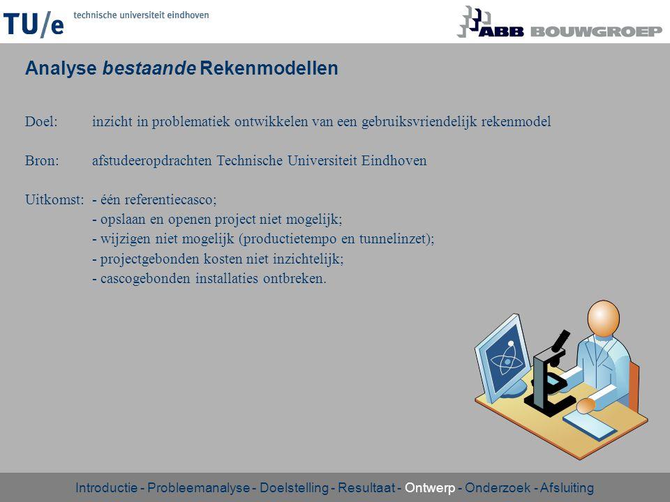Doel:inzicht in problematiek ontwikkelen van een gebruiksvriendelijk rekenmodel Bron:afstudeeropdrachten Technische Universiteit Eindhoven Uitkomst:-