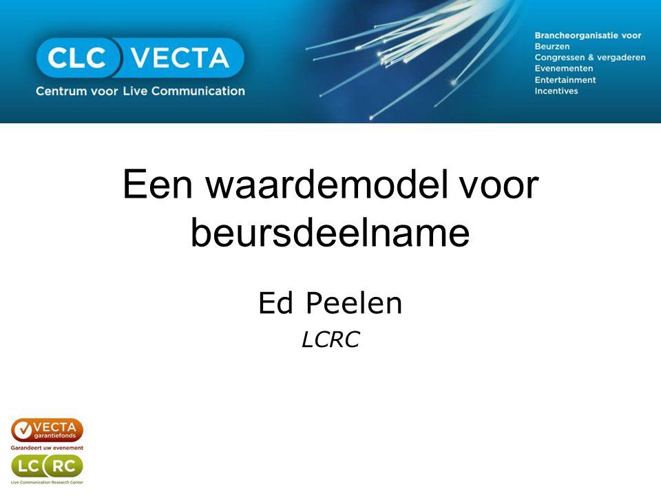 Een waardemodel voor beursdeelname Ed Peelen LCRC