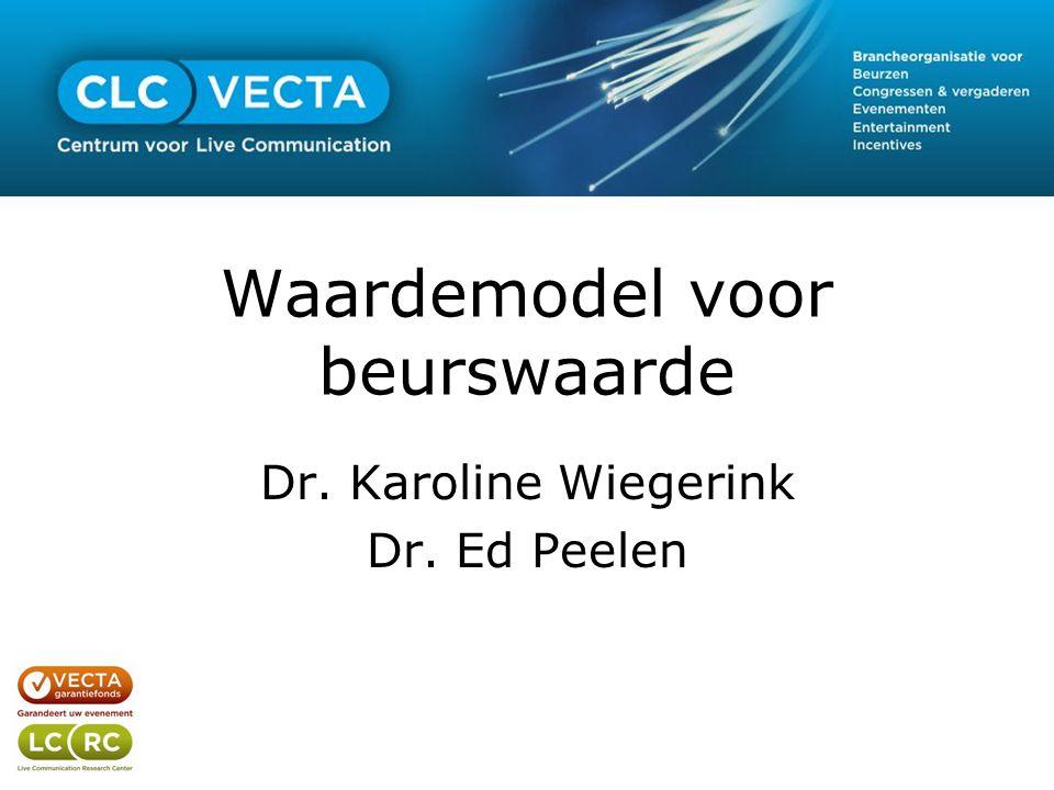 Waardemodel voor beurswaarde Dr. Karoline Wiegerink Dr. Ed Peelen