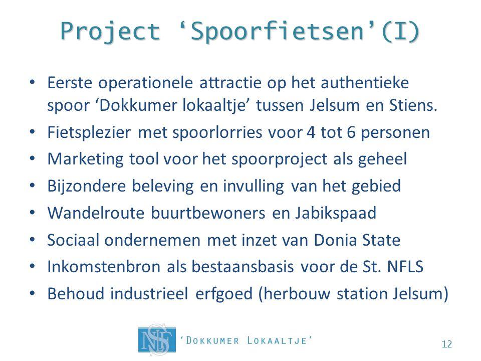 Project 'Spoorfietsen'(I) • Eerste operationele attractie op het authentieke spoor 'Dokkumer lokaaltje' tussen Jelsum en Stiens.