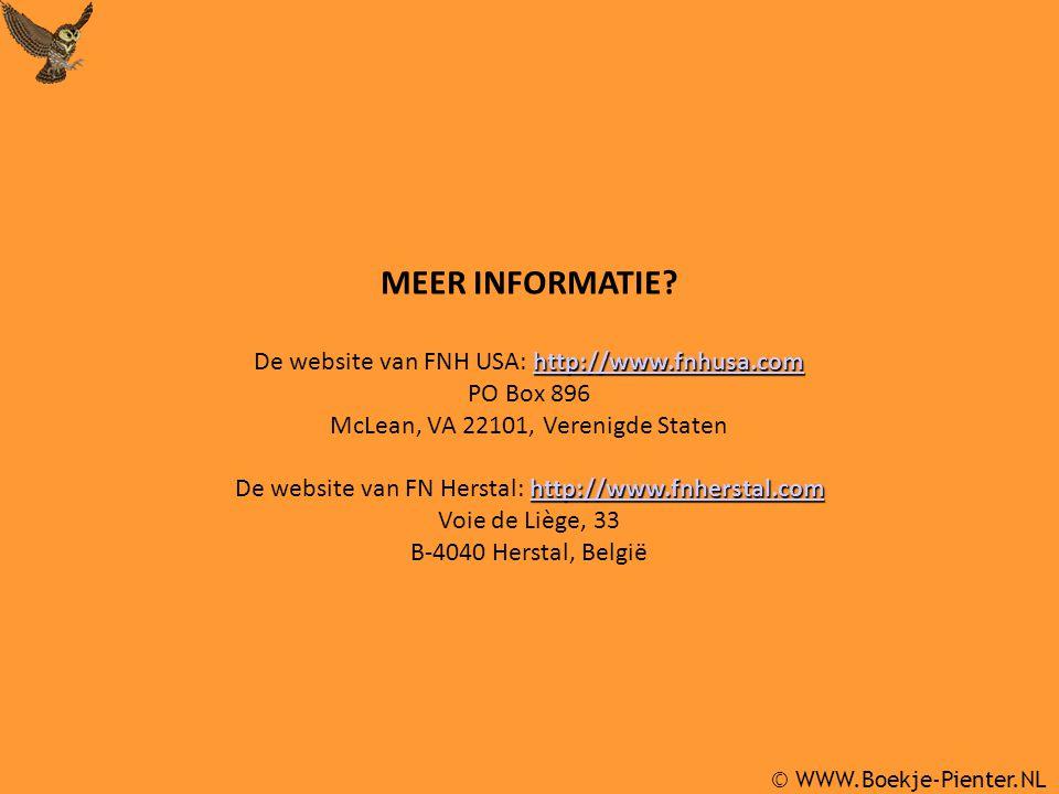 © WWW.Boekje-Pienter.NL MEER INFORMATIE.