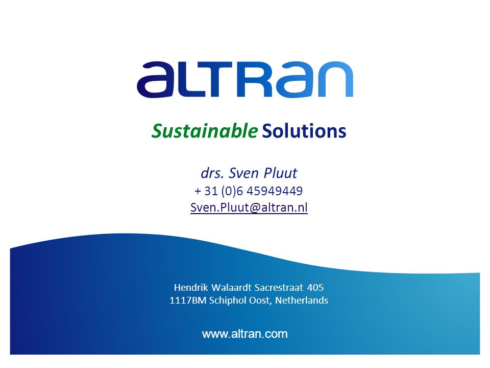 www.altran.com Sustainable Solutions drs.