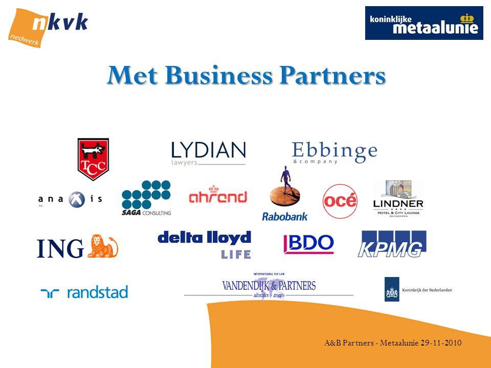 A&B Partners - Metaalunie 29-11-2010 Met Business Partners