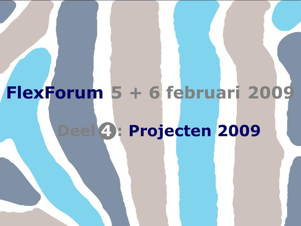 FlexForum 5 + 6 februari 2009 Copyright © FlexService 2009 FlexForum 200941 FlexForum 5 + 6 februari 2009 Deel : Projecten 20094