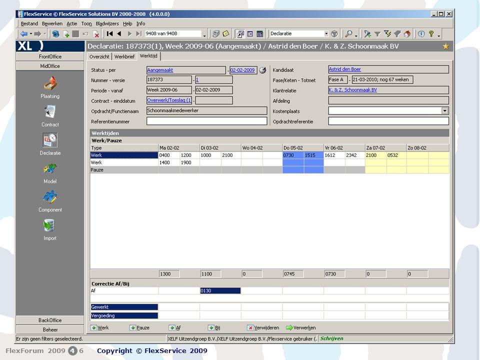 FlexForum 5 + 6 februari 2009 Copyright © FlexService 2009 FlexForum 200946 2
