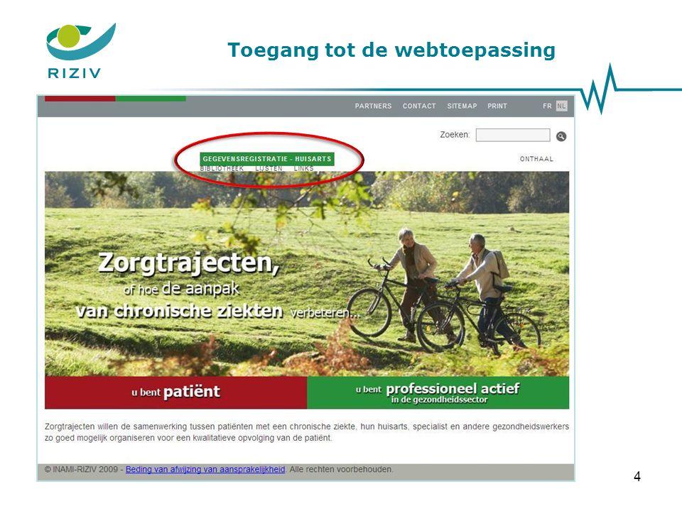 Toegang tot de webtoepassing 4
