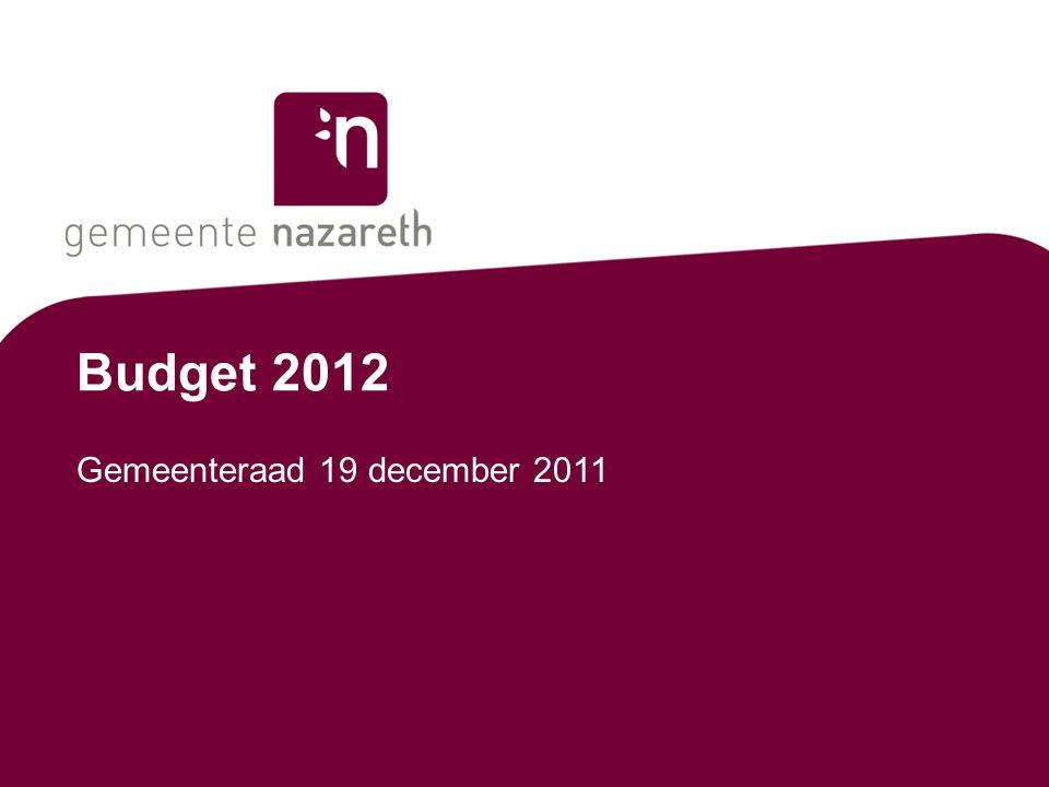 Budget 2012 Gemeenteraad 19 december 2011