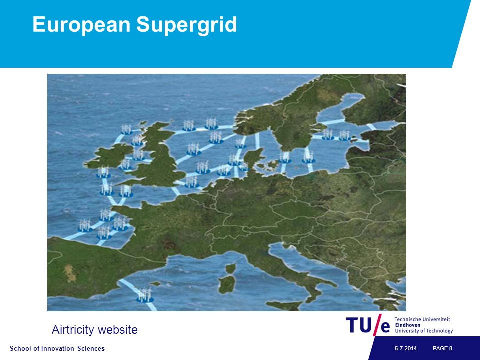School of Innovation Sciences PAGE 85-7-2014 European Supergrid Airtricity website