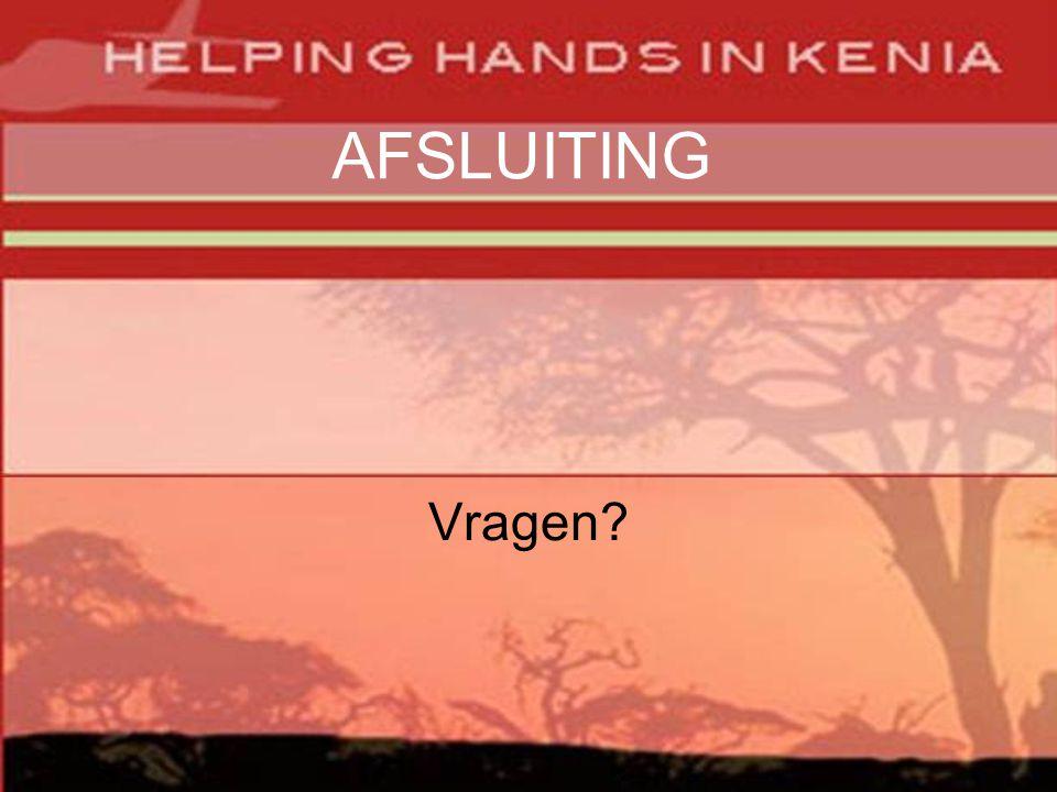AFSLUITING Vragen