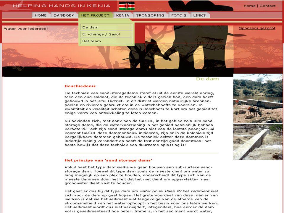 Afmetingen •De afvoer in de rivier •De vorm van de bedding •De dichtheid van het sediment