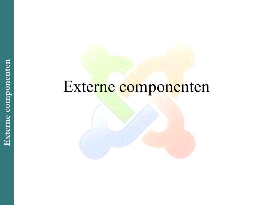 Externe componenten