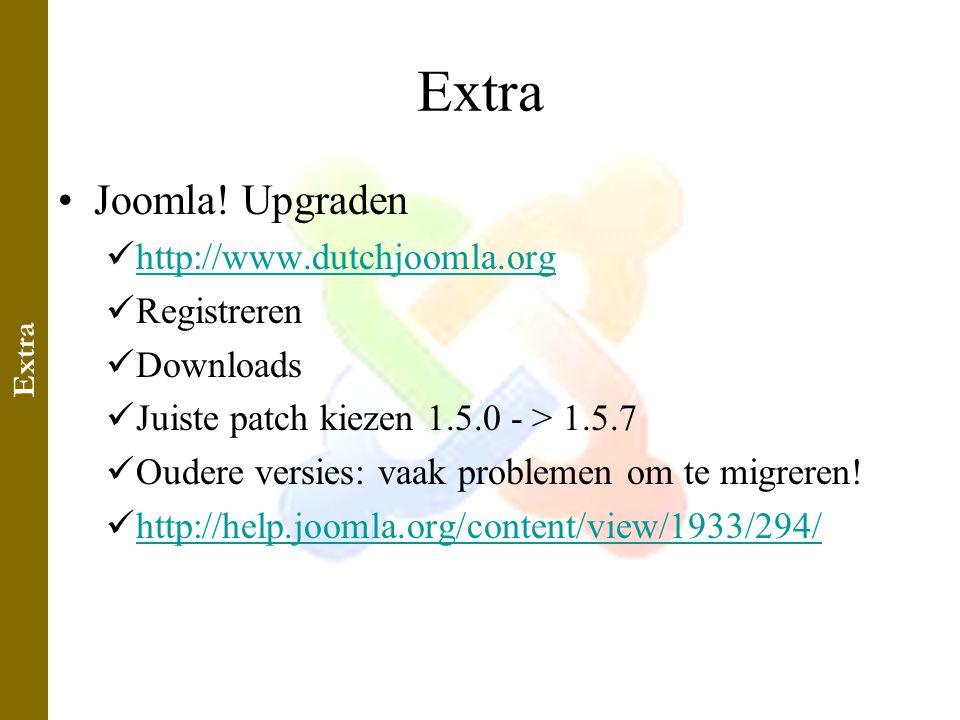 Extra •Joomla.