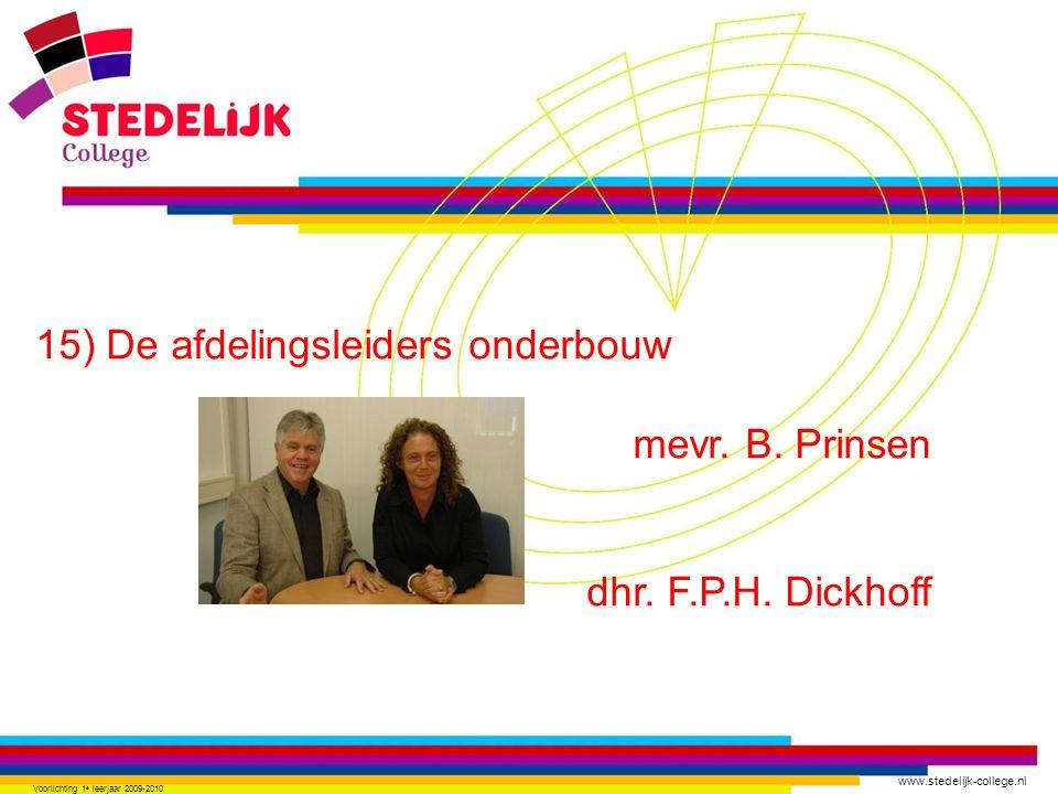 www.stedelijk-college.nl 15) De afdelingsleiders onderbouw mevr.
