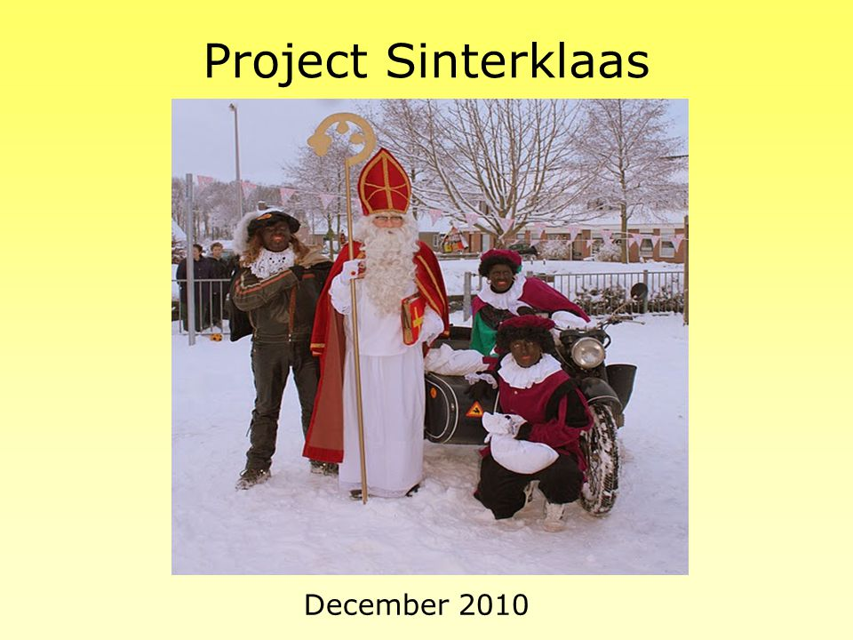 Project Sinterklaas December 2010: heel veel knutselen