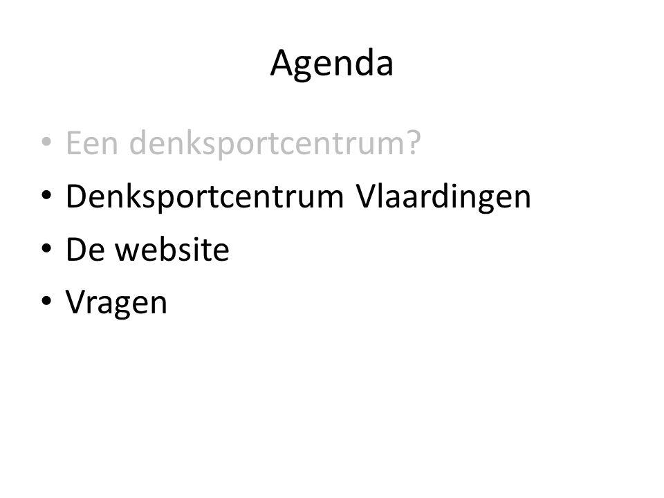 Agenda • Een denksportcentrum? • Denksportcentrum Vlaardingen • De website • Vragen