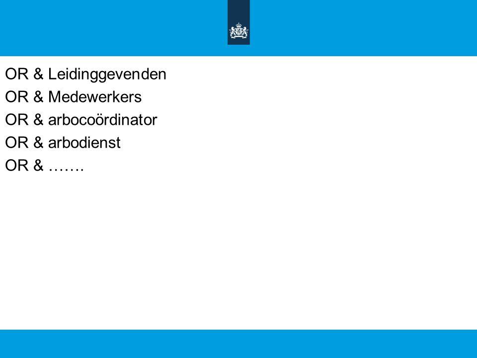 OR & Leidinggevenden OR & Medewerkers OR & arbocoördinator OR & arbodienst OR & …….