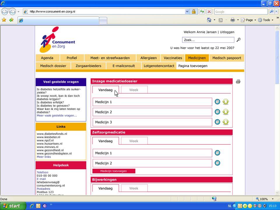 7 Patiënten Portal www.patientenportal.nl • Inzage in EPD/ LSP Inzage in EPD/ LSP • Mijn meetwaarden Mijn meetwaarden • Mijn streefwaarden Mijn streefwaarden • Educatie & Voorlichting Educatie & Voorlichting • … … LSP Inzage, autorisatie, logging HISXISZIS Patiënt Zorgverlener