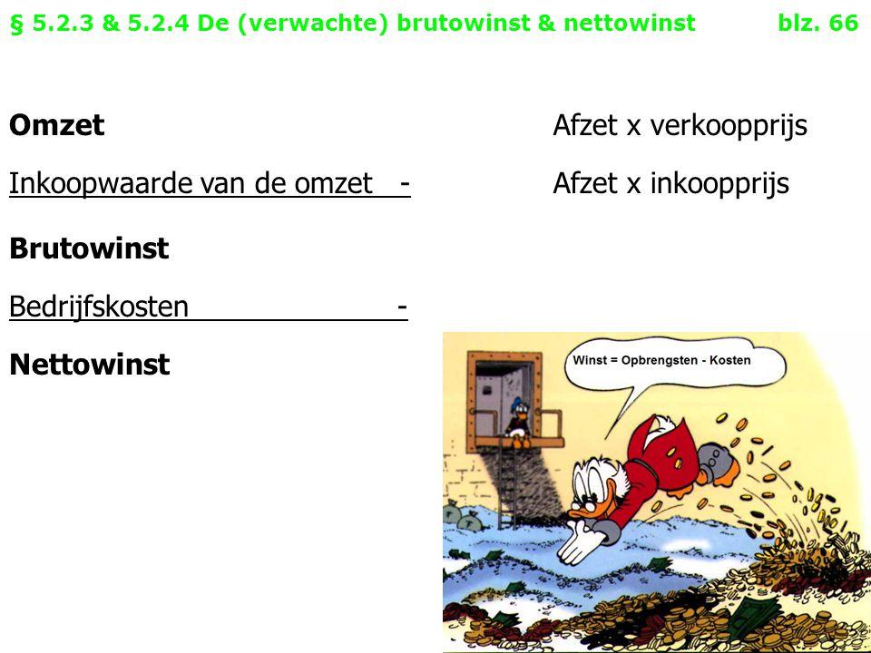 §5.3 De resultatenrekening en de balans blz.