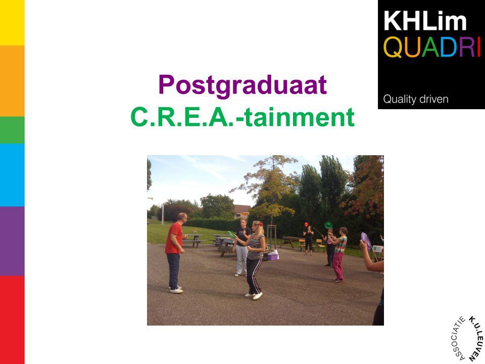 Postgraduaat C.R.E.A.-tainment