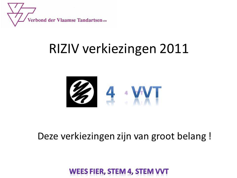 RIZIV verkiezingen 2011 Deze verkiezingen zijn van groot belang !