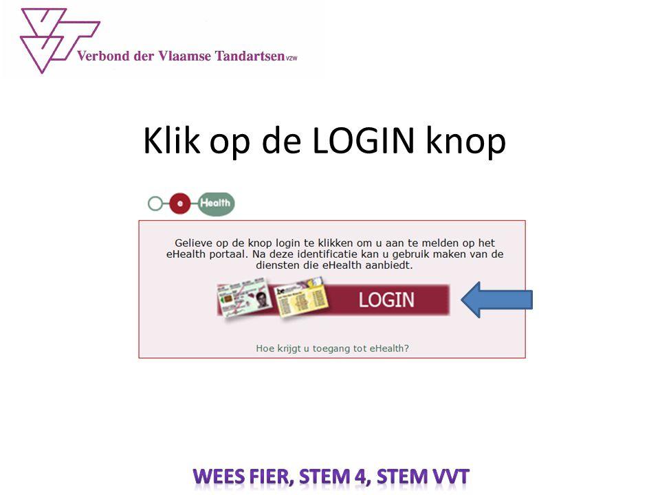 Klik op de LOGIN knop
