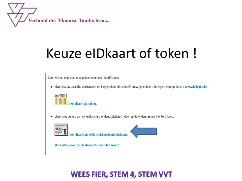 Keuze eIDkaart of token !