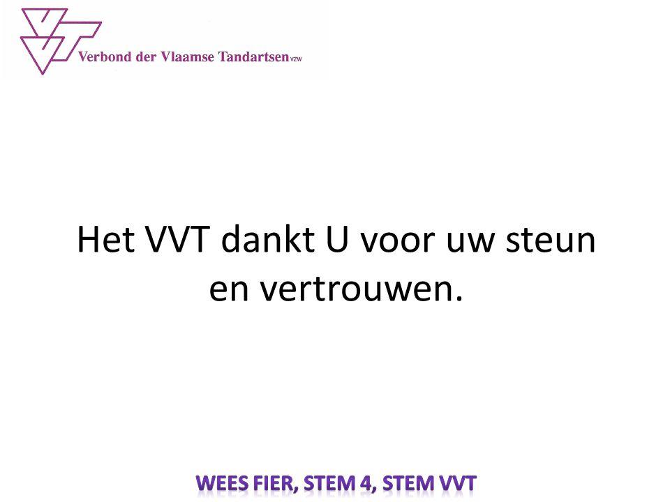 Het VVT dankt U voor uw steun en vertrouwen.