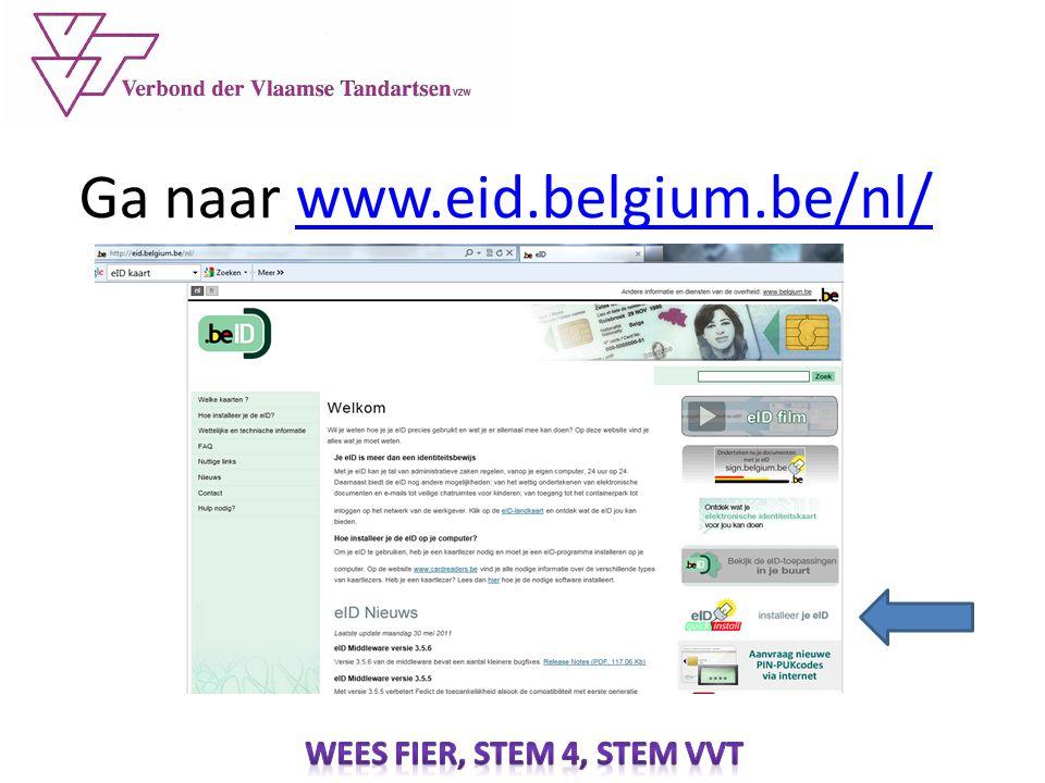 Ga naar www.eid.belgium.be/nl/www.eid.belgium.be/nl/