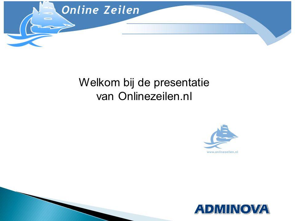 Welkom bij de presentatie van Onlinezeilen.nl