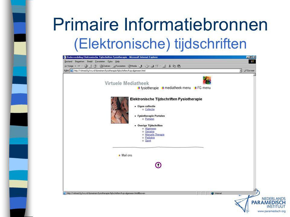 Primaire Informatiebronnen Websites