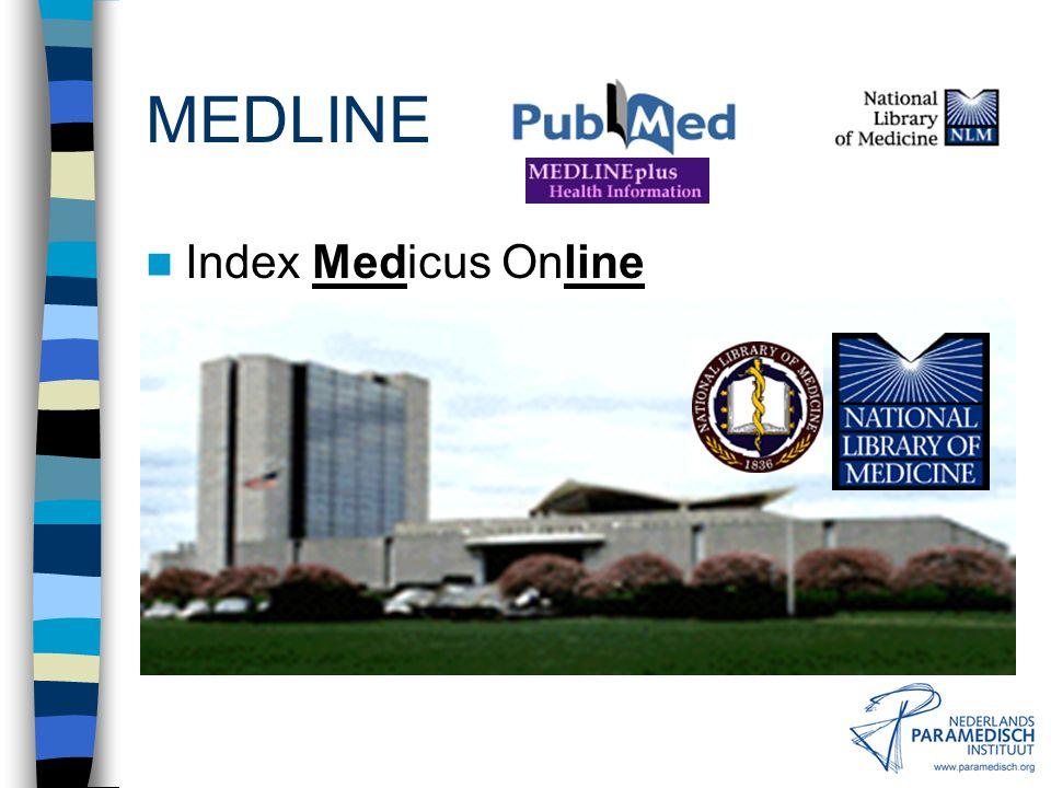 MEDLINE IIndex Medicus Online