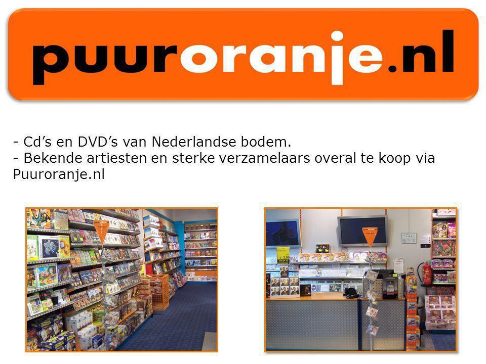 - Cd's en DVD's van Nederlandse bodem.
