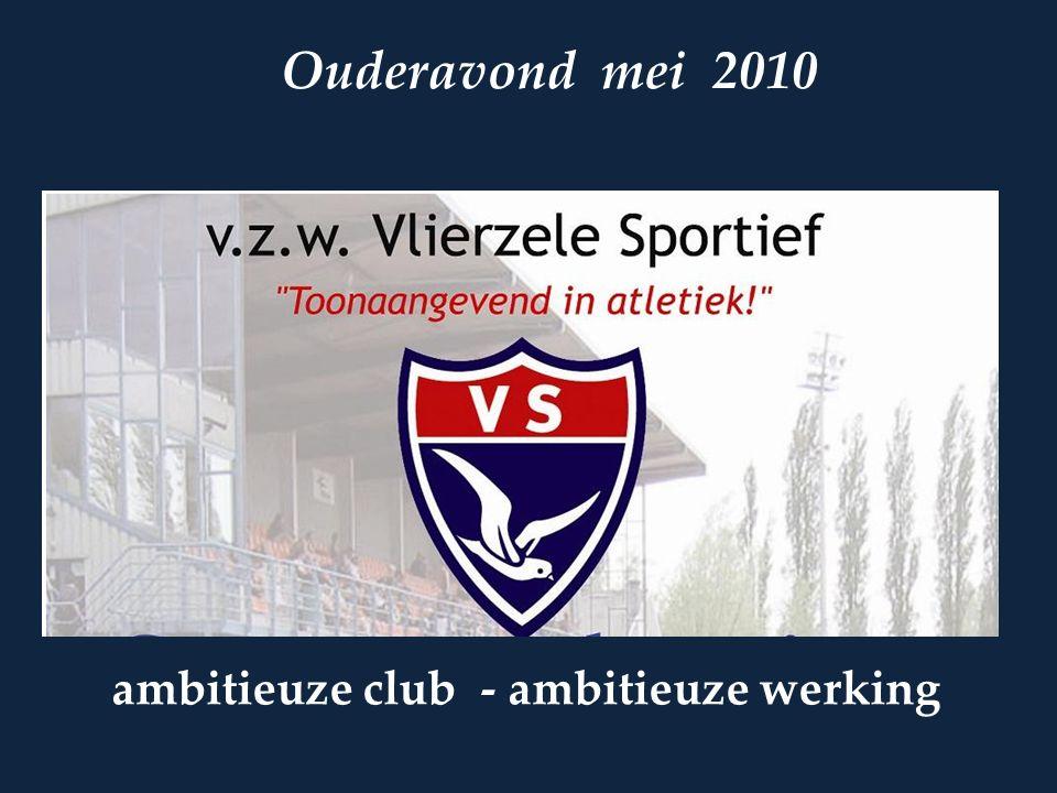 ambitieuze club - ambitieuze werking Ouderavond mei 2010