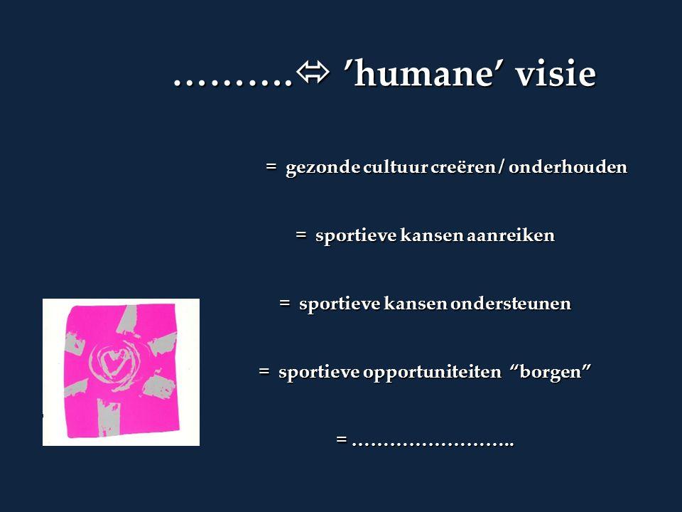 ……….  'humane' visie ……….