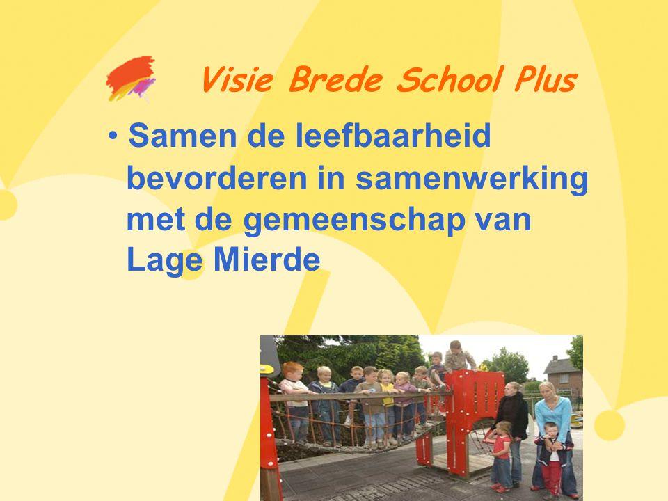 Visie Brede School Plus • Samen de leefbaarheid bevorderen in samenwerking met de gemeenschap van Lage Mierde