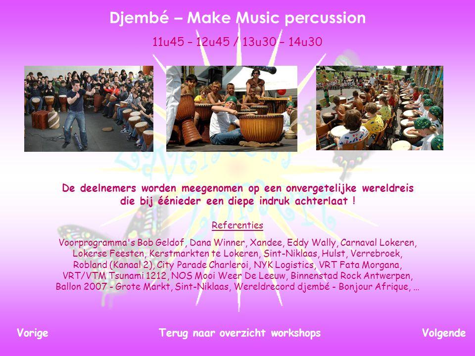 In deze workshop verkennen we al dansend de wereld van de fantasie. Dans – Mooss vzw VolgendeTerug naar overzicht workshopsVorige 12u00 – 13u30 / 14u3