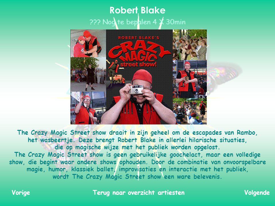 The Crazy Magic Street show draait in zijn geheel om de escapades van Rambo, het wasbeertje.
